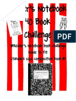 Free Readers Notebook Book Challenge