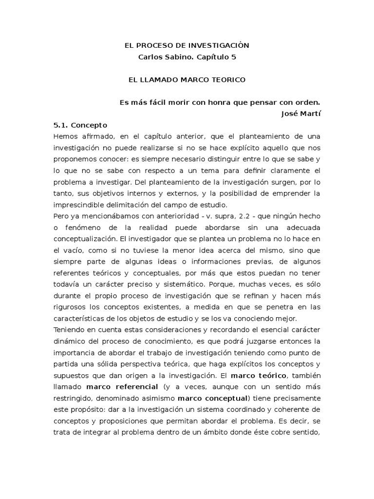 Sabino - Marco Teórico