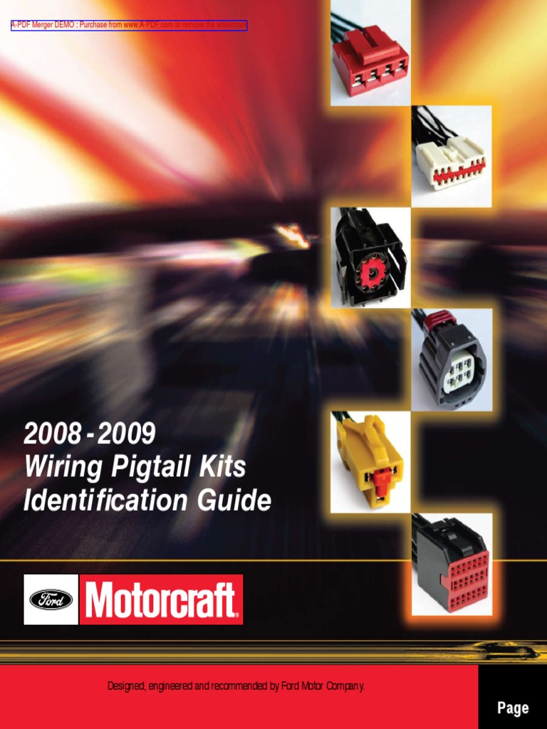 Pig Tail Connector Identification Kit 2008-2009 Model Yr. | Headlamp |  Switch