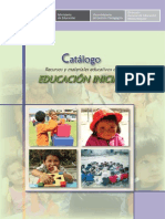 Catalogo DE MATERIALES DE EDUCACIÓN INICIAL