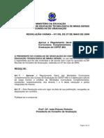 Resolucao CGRAD 11 09 Regulamento Atividades Curriculares Complementares