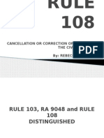 Rule 108 Powerpoint