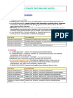 Ultimate Pre-reg Bnf Notes