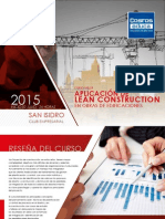Brochure Aplicacion de Lean Construction