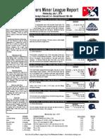 Minor League Report 15.07.01