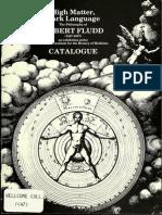 Robert Fludd - High Matter, Dark Language Catalogue