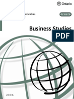 Business Studies Curriculum (Grades 9 & 10)