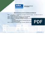 Inscripcion de Actas de Asambleas Generales