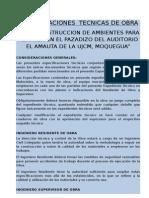 ESPECIFICACIONES  TECNICAS ( proyectos )