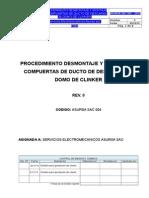 Procedimiento de Desmontajey Montaje de Compuerta de Ducto de Descarga de Domo de Clinker