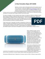Altavoces Bluetooth Mini Portatiles Rojos HP S6000