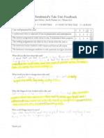 handmaids tale student feedback for portfolio