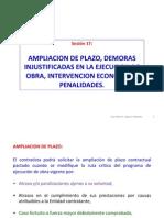 Sesión 17 Ampliación Plazo, Demoras, Intervención Económica, Penalidades