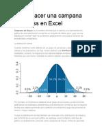 Cómo Hacer Una Campana de Gauss en Excel