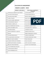 Relacion de Danzarines - Datos Delegados