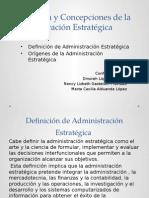 Definición y Concepciones de la Administración Estratégica.pptx