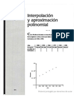 3 Interpolacion y Aproximacion Polinominal