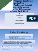 Evaluasi Program Lansia