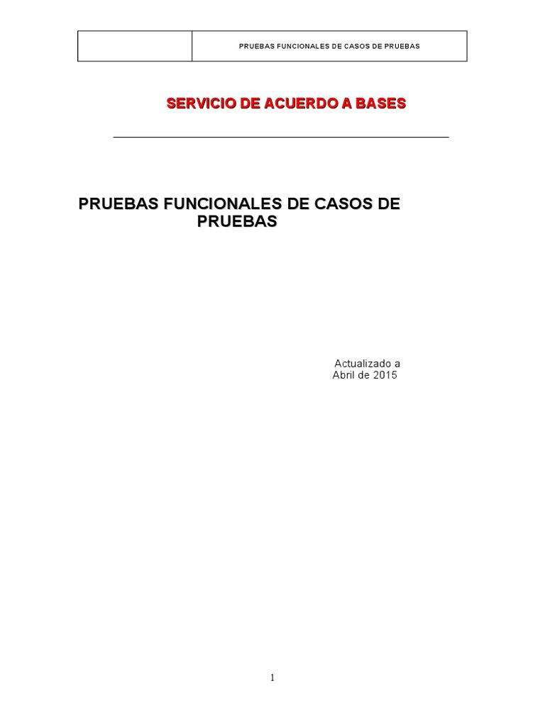 PRUEBAS FUNCIONALES | Use Case | Software Engineering