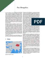 Pax Mongolica