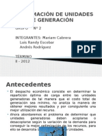 Programación de Unidades de Generación
