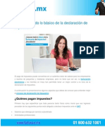 PDF Lo Basico de La Declaracion de Impuestos