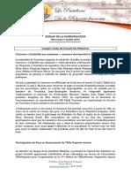 Conseil des ministres - Mercredi 1er Juillet 2015