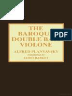 the baroque double bass