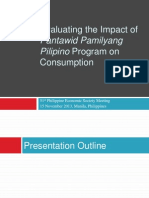 Impact of Pantawid Pamilyang Pilipino Program on Consumption