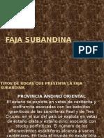 Geologia Estructural – Faja Subandina