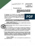 PROYECTO DE LEY SOBRE EL CONGRESO