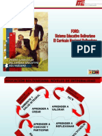 Foro Sistema Educativo Bolivariano y Su Currículo JORNADA TACHURA
