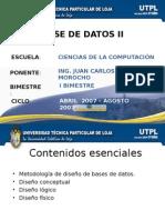00-Base de Datos I - Diseños de BD - Metodología, Conceptual, Lógico y Físico (Comparar)