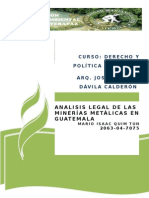 Analisis Legal de Las Minerìas en Guatemala