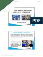 Relacion Entre Mto, Produccion y Fabricante