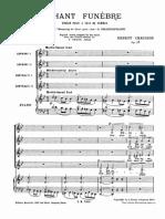 Chausson - Chansons de Shakespeare Op. 28 No. 4 - Chant Fun Bre