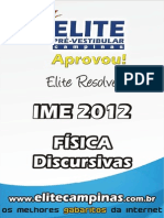 Elite Resolve IME 2012 Fisica Discursivas