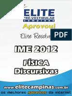 Elite Resolve IME 2012 Fisica Discursivas