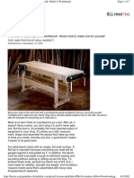 Woodworking Plans - Workbench - Popular Mechanics - Hard Maple