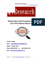 Global Ultra Violet Computer to Plate (UV CTP) Industry Report 2015