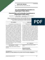 Caracterizacion y Funcionalidad de Invernaderos en Chignahuapan