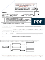 Examen Bimestral dghge Literatura 5º Prim i Bim 2015 Prof. Luis Eduardo