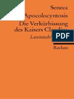 Apocolocyntosis. Die Verkür...