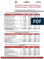 18 Gestión Presupuestal Carhuaz-Marcará
