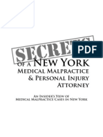 Secrets of a NY Med Mal Attrny