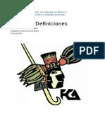 Definiciones estructura de datos