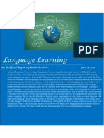 language learning analyitcal report