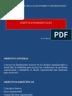 DISEÑOS EXPERIMENTALES - 2015