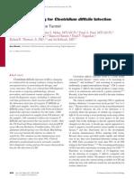 Laboratory Testing for Clostridium Difficile Infection