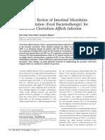 Systematic Review of Intestinal Microbiota Transplantation 2011